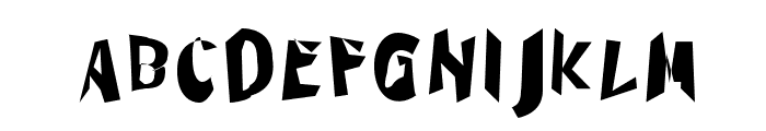 Through The Black Narrow Font UPPERCASE