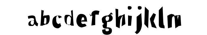 Through The Black Narrow Font LOWERCASE