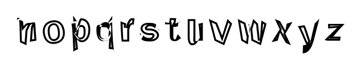 Through The Black Reverse Font LOWERCASE
