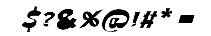 Through The Black Wide Italic Font OTHER CHARS