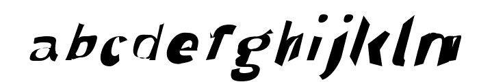 Through The Black Wide Italic Font LOWERCASE