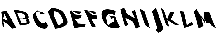 Through The Black Wide Leftalic Font UPPERCASE