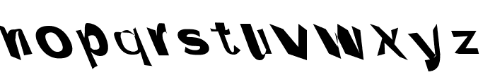 Through The Black Wide Leftalic Font LOWERCASE