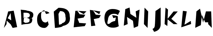 Through The Black Wide Font UPPERCASE