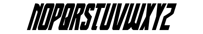 Thunder-Hawk Condensed Italic Font UPPERCASE