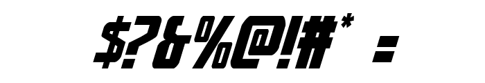Thunder-Hawk Expanded Italic Font OTHER CHARS