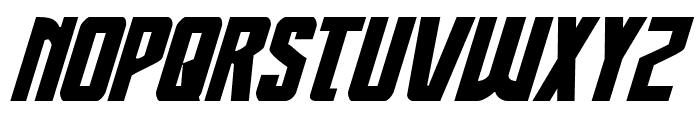 Thunder-Hawk Expanded Italic Font UPPERCASE