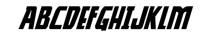 Thunder-Hawk Expanded Italic Font LOWERCASE