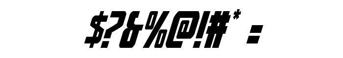 Thunder-Hawk Italic Font OTHER CHARS