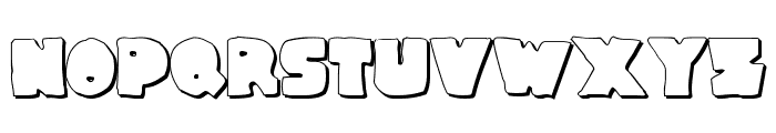 Thunder Thighs Shadow Font LOWERCASE