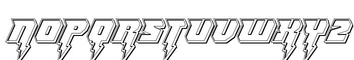 Thunder Titan Engraved Font UPPERCASE