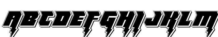 Thunder Titan Punch Font UPPERCASE