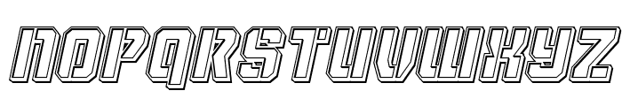 Thunder Trooper Engraved Italic Font UPPERCASE