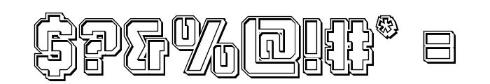 Thunder Trooper Engraved Font OTHER CHARS