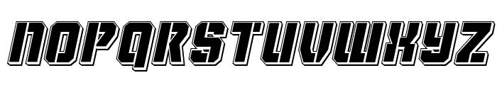 Thunder Trooper Punch Italic Font UPPERCASE