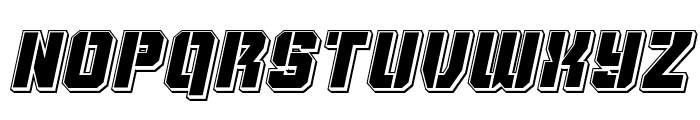 Thunder Trooper Punch Italic Font LOWERCASE
