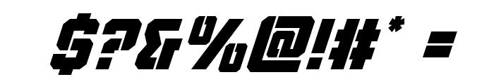 Thunder Trooper Super-Italic Font OTHER CHARS