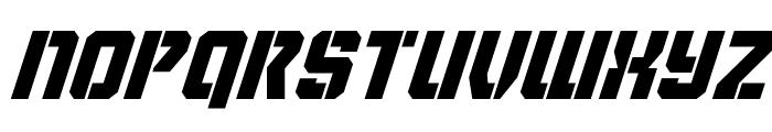 Thunder Trooper Super-Italic Font UPPERCASE