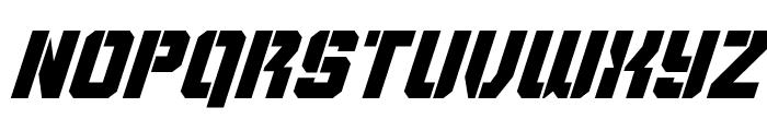 Thunder Trooper Super-Italic Font LOWERCASE