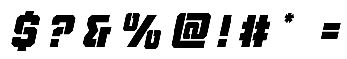 Thunder Trooper Title Italic Font OTHER CHARS