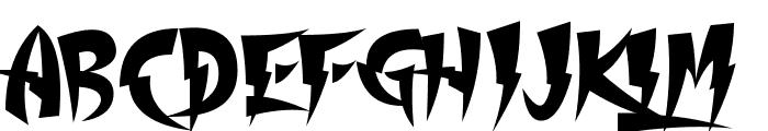 Thundercover Font UPPERCASE