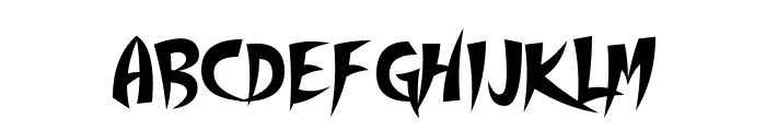 Thundercover Font LOWERCASE