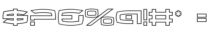 Thundergod II Outline Font OTHER CHARS