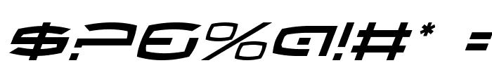 Thundergod Italic Font OTHER CHARS
