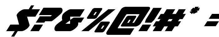 Thunderstrike Italic Font OTHER CHARS