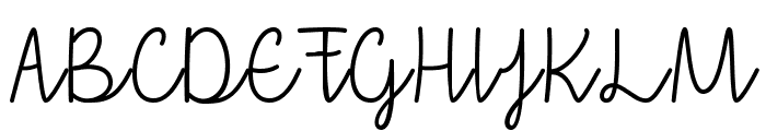 that i love you Font UPPERCASE