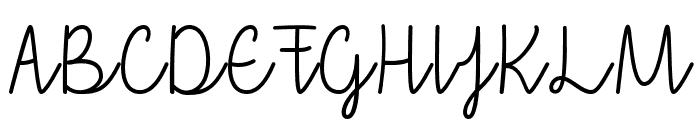 thatiloveyou Font UPPERCASE