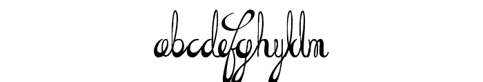 the Daily Bread Font LOWERCASE