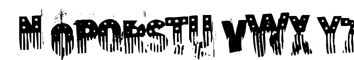 the american flag Font LOWERCASE