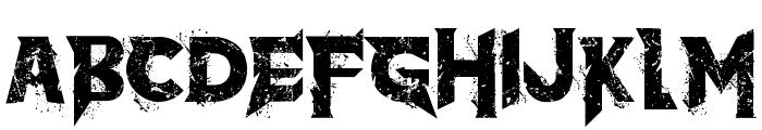 the dark Font UPPERCASE