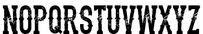 the dead saloon Regular Font UPPERCASE
