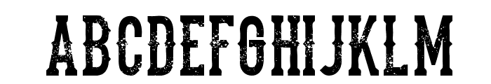 the dead saloon Regular Font LOWERCASE