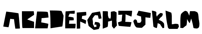thick Font UPPERCASE