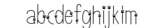 thinpaws Font LOWERCASE