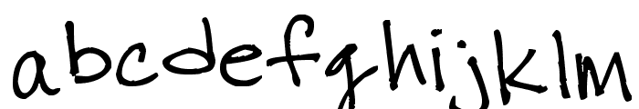 thuy's chicken scratch Font LOWERCASE