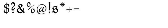 Thannhaeuser Fraktur Regular Font OTHER CHARS