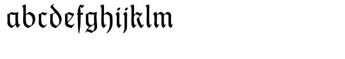 Thannhaeuser Fraktur Regular Font LOWERCASE