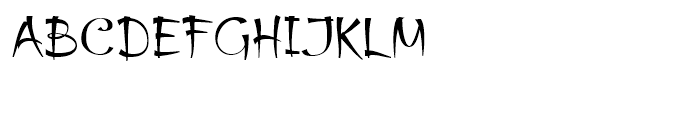 Thaun Accord Regular Font UPPERCASE