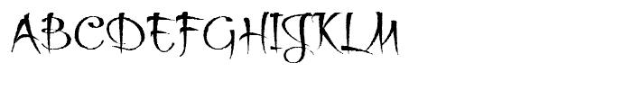 Thaun Rough Font UPPERCASE