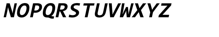 The Mix Mono W7 Bold Italic Font UPPERCASE
