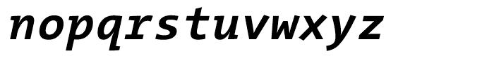 The Mix Mono W7 Bold Italic Font LOWERCASE