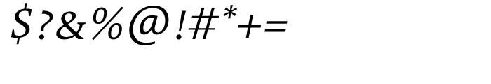 TheAntiqua 4c SemLight Italic Font OTHER CHARS