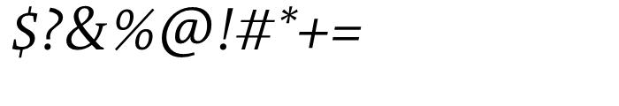 TheAntiquaB C2 SemiLight Italic Font OTHER CHARS