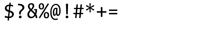 TheMix Mono Semi Condensed W5 Regular Font OTHER CHARS