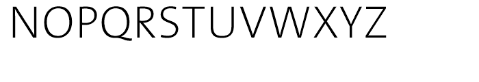 TheSans ExtraLight Font UPPERCASE