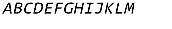 TheSans Mono W5 Regular Italic Font UPPERCASE